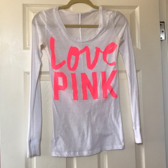 PINK Victoria's Secret - XS Victoria Secret Love Pink Long Sleeve ...